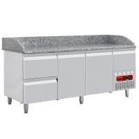 Kylmätyöpöytä Diamond TP261/P9 graniittitasolla