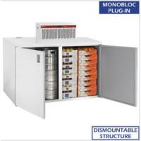 Kylmäkaappi + kylmäkone Diamond RBB/2+2+URA/P1