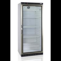 Tuuletus jäähdytyksellä oleva isokokoinen korkea kylmäkaappi. Kaapissa on yksi kappale saranoilla olevaa lasitettua ovea. Kaapissa on 4kpl säädettäviä lanka hyllyä GN 2/1 mitoituksella Kaappi varustettu kahdella säätösajalla ja kahdella pyörällä LED-sisäv