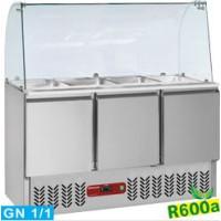 Kylmä salaattityöpöytä pisarasoujalla Diamond SAL3M/R6+KV3