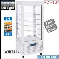 Kylmävitriini valkoinen Diamond INN/VN-W5