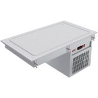 Neljälle GN 1/1-kokoiselle astialle tarkoitettu kylmätaso Diamond IN/RPX15-P viileän ruuan lyhytaikaiseen tarjoiluun lämpötilassa 0 - +8 °C. Pöytään upotettava malli.