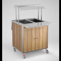 Lämminvaunu GN-astioillle SSB800