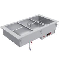 Pöytään upotettava vesikäyttöinen lämpöhaude Diamond IN/BX08-P kahdelle GN 1/1-kokoiselle max. 150 mm syvälle astialle.
