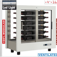 Näyttävä viinikaappi Diamond PVV-1/TR+DE21-BI