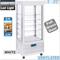 Pakastevitriini valkoinen Diamond INN/VB-W5