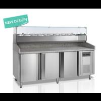 Pizzatyöpöytä Tefcold PT1300-I graniittityöpöydällä