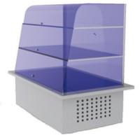 Drop-in kylmä allaslasikko näyteikkunalla, kylmäaltaalla ja kahdella tasolla RIK700/2S