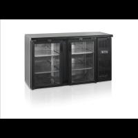 Kylmäkaappi Tefcold CBC210G-P backbar saranaovilla