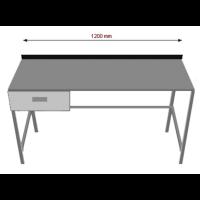 Työpöytä laatikolla  INOX 1200TPL