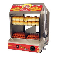 Vuokrattava Hot Dog höyrystinvitriini DHT