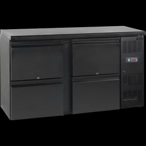 Kylmäkaappi Tefcold CBC220-P backbar saranaovilla